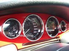 For Fiat Coupe 16V 20V Turbo Chrome Instrument Rings Set Polished Aluminium 4pcs