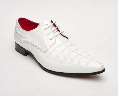 PZ3 Mens Vintage Retro Leather Lined Patent Party Formal Dress Wedding Shoes