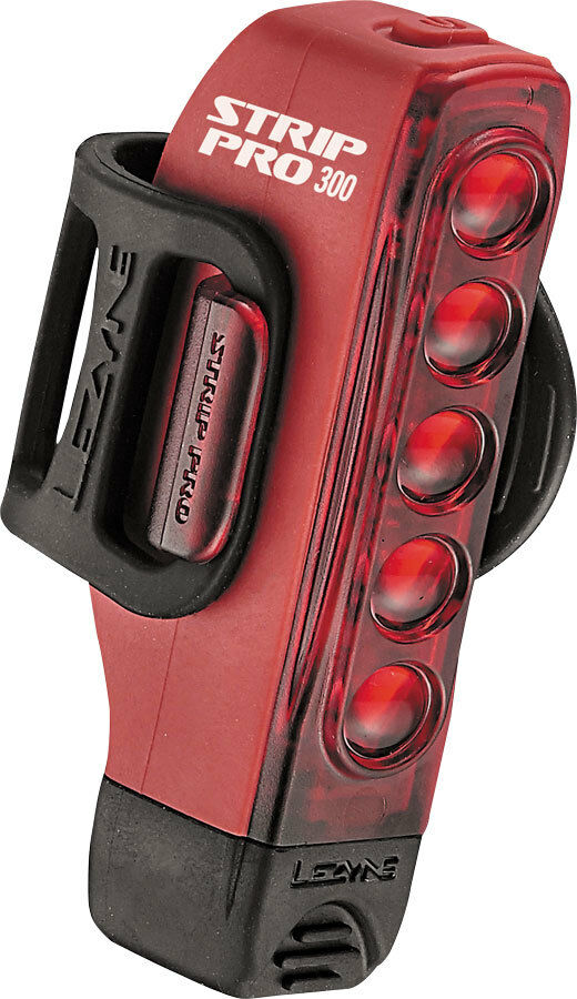 Lezyne Strip Drive Pro Rear Bike Bicycle Light Taillight 300 Lumen Red