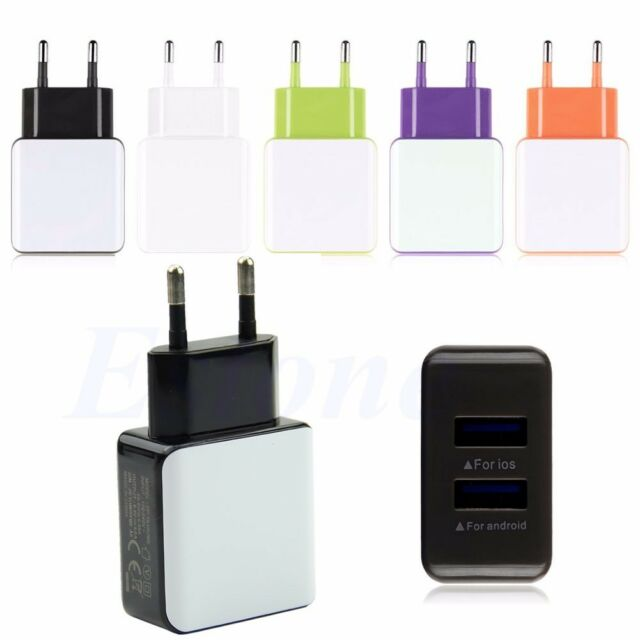 3A 2 Ports EU Plug USB Wall Travel AC Charger Adapter For Samsung Galaxy iPhone