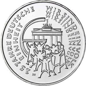 Deutschland-25-Euro-2015-Deutsche-Einheit-Muenzzeichen-D-bankfrisch-in-Muenzkapsel