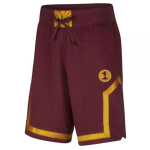 Details about Nike AF1 Air Force One Loose Fit Shorts Burgundy Gold AH8509 677 $65 Mens M L XL