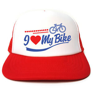 a7916baec6d49 I Love My Bike - Cycling hat - Funny Retro Trucker Cap