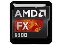 Amd Fx 6300 1x1 Chrome Domed Case Badge / Sticker Logo