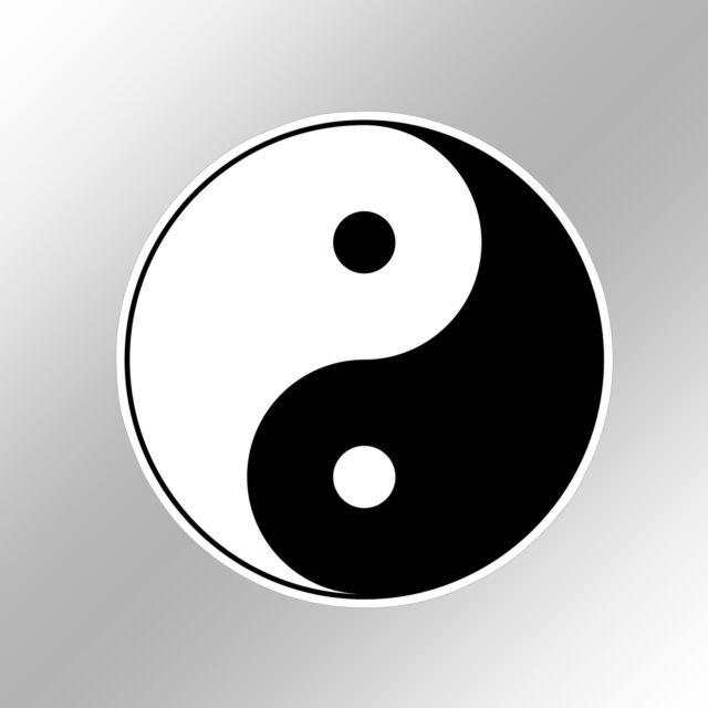 Funny Car Bumper Sticker Yin Yang Symbol Classic Black White Vinyl