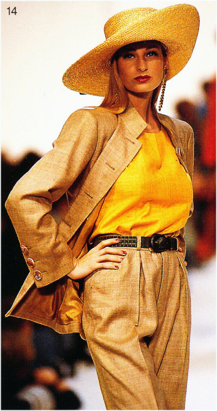 Vintage Rare Yves Saint Laurent Rive Gauche deep yellow silk blouse top 1992