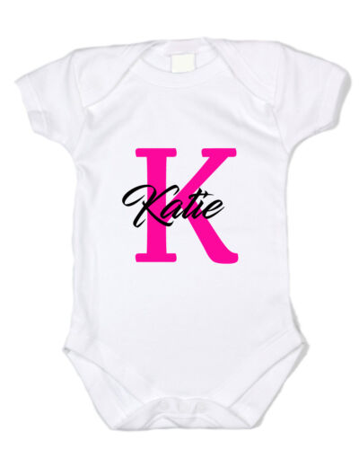 Custom Personalized Monogram and Name Bodysuit Shirt