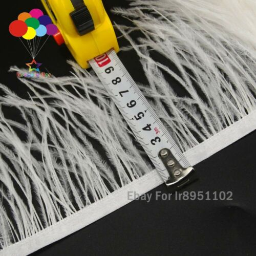 Off White Ostrich feather Trimming ribbon DIY wedding party dresss decoration