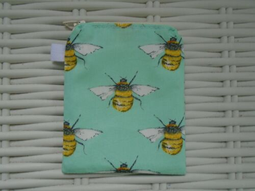 BEE THEMED COIN PURSE PURSES BEES COTTON LINED ZIP GIFT HONEY HIVE GIFTS WALLET
