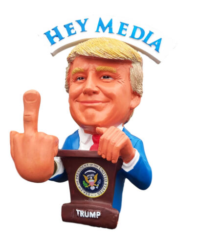 Presiden Trump Bobble Middle Finger Bobblehead F##K The Media  F##K The Liberals