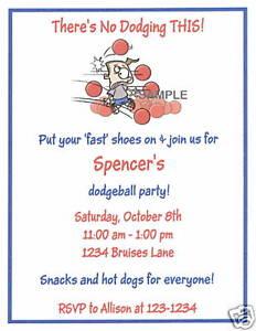 image is loading 20 custom party invitations sports dodge ball dodgeball