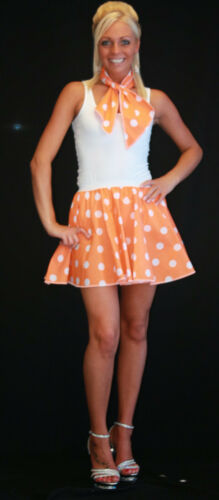 15 inch Adults ROCK AND ROLL 50s Full Circle Skirt /& Scarf Set Fancy Dress