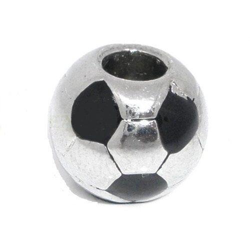 """""""soccer Ball"""" Charm For European Charm Snake Chain Bracelets"""