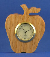 Apple Mini Clock - Hand Cut W/ Choice Of Insert