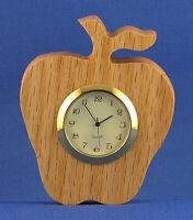 Apple Mini Clock - Hand Cut W/ Choice Of Insert