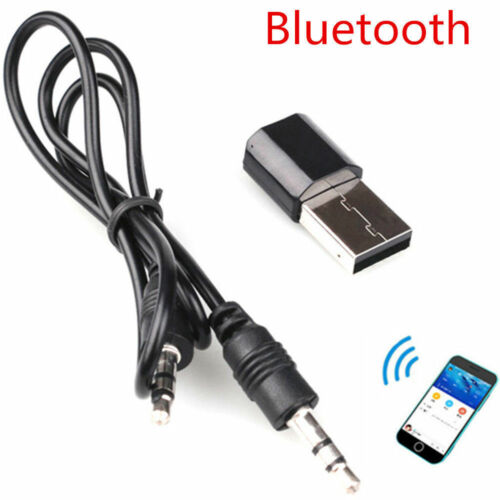 Wireless Bluetooth USB 3.5 mm AUX Audio Stereo Music Receiver Adapter Car Home