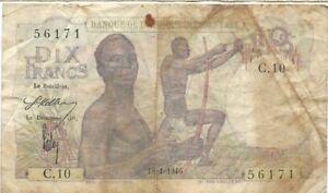 AFRIQUE Western 10 Francs 1946 Rare Y2TslCwx-07134213-915692400