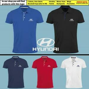 Hyundai-Polo-T-Shirt-EMBROIDERED-Auto-Car-Logo-Slim-Fit-Tee-Gift-Mens-Clothing