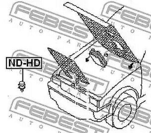 2x Motorhaube Motor Haube Anschlagpuffer Passend für Diverse Nissan und Infiniti