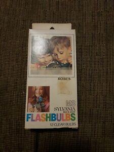 Sylvania M3B Blue Dot Flashbulbs 12 Bulbs New Old Stock Free Shipping