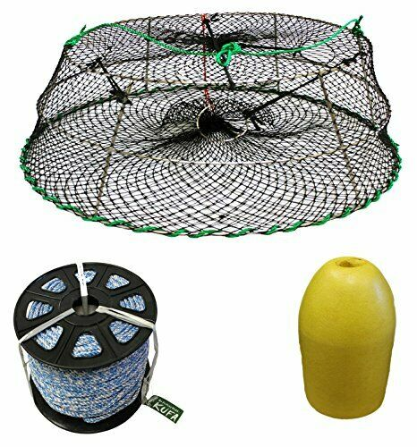 KUFA Sports Tower Style Prawn trap with 400' rope, float & Bait Jar CT76PAS1