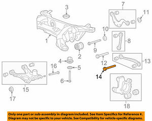 GM OEM Rear Suspension-Upper Control Arm Bolt 11589279
