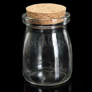 2-5-10Pcs-100ML-Small-Clear-Glass-Bottle-Wish-Vial-Container-With-Cork-D