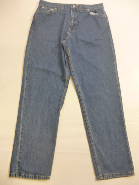 Ladies bluee Denim Straight Leg Jeans Trousers L28