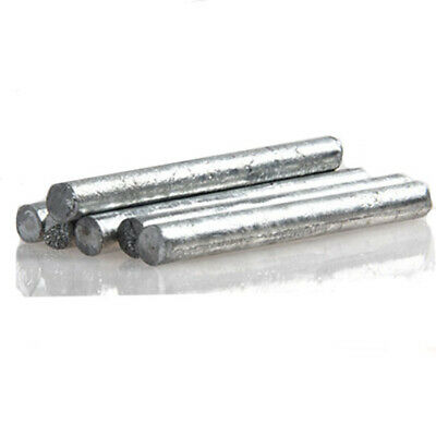 """High Purity Zn 99.95/% Zinc Rods Solid Round Bar 0.4/"""" *4/"""" Anode Electroplating"""