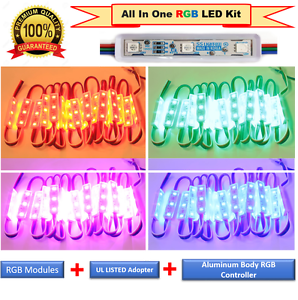 Luxled de grado comercial Multi Color de LED Tira Luces KIT Plug N Play de luz (30 ft (approx. 9.14 m))