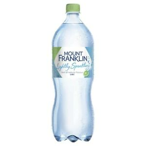 Mount Franklin Lime Flavoured Lightly Sparkling Water Botte 1.25L - Beverage