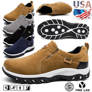 Mens-Suede-Slip-On-Sports-Outdoor-Sneakers-Running-Walking-Hiking-Shoes-Trainers