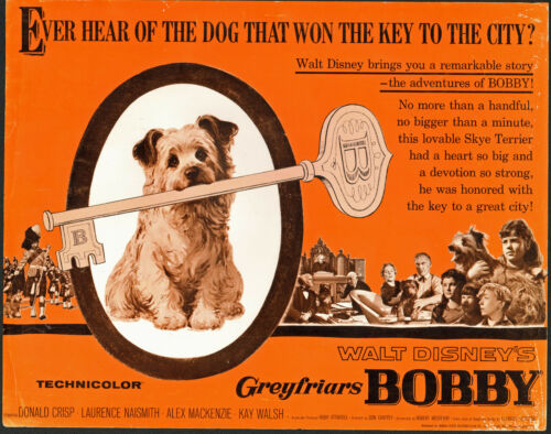 GREYFRIARS BOBBYSKYE TERRIER original 1961 DISNEY movie poster