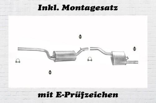 Ford Focus DNW 1.6 16V Kombi Auspuffanlage Auspuff Endopf Mitteltopf Montagesatz