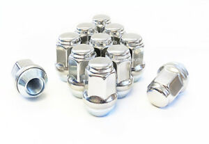 "(32) 1/2-20 BULGE ACORN STAINLESS STEEL CAPPED LUG NUTS 1.43"" TALL 3/4 HEX 19MM"