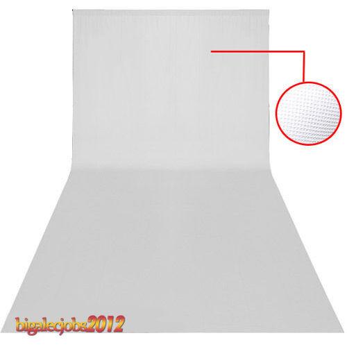 Tela blanco 3.2*6m Fondo de lona de foto estudio estrenar NUEVo