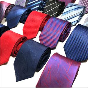 Classic-Red-Black-Blue-Mens-Tie-Paisley-Stripe-Silk-Necktie-Set-Wedding-Jacquard