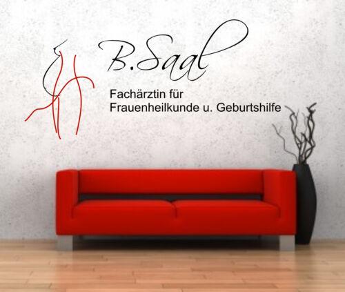 individuelles Wandtattoo Wandbild Firmenlogo Praxislogo Logo Wanddekor