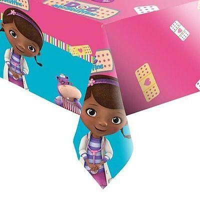 Disney Doc Mcstuffin Plastic Tablecloth Girls Birthday Party Lambie Hallie Pink