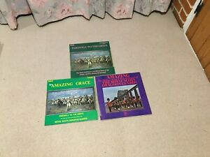Collection-3-Royal-Scots-Dragoon-Guards-vinyl-LPs-Bagpipes-Military-Brass-Band