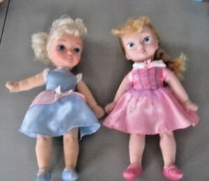 Disney-Princesses-Lot-Aurora-amp-Cinderella-12-034-Soft-Plush-Body-Vinyl-Head