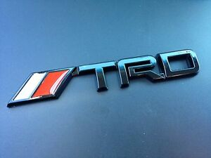 trd black 3d vehicle emblem decal sticker toyota tundra. Black Bedroom Furniture Sets. Home Design Ideas