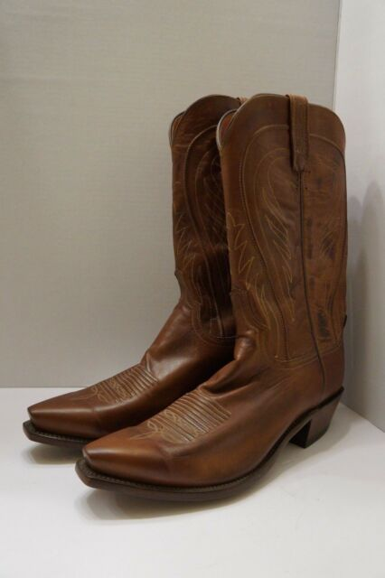 6b15857b4e7 Lucchese 1883 Men's Bart Ranch Hand Leather Cowboy Boot N1596 54 size 9.5