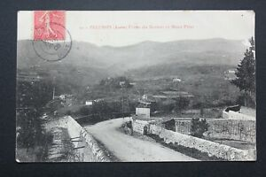 Postcard-Antique-1906-Pelussin-Factory-of-The-Bertoir-And-Mount-Pilat