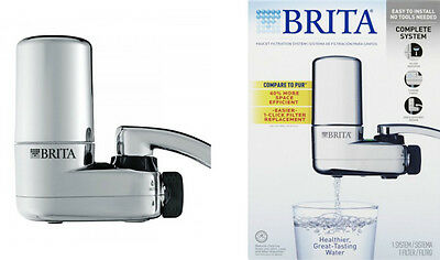 Brita Complete On Tap Faucet Water Filtration System Chrome New Free Shipping