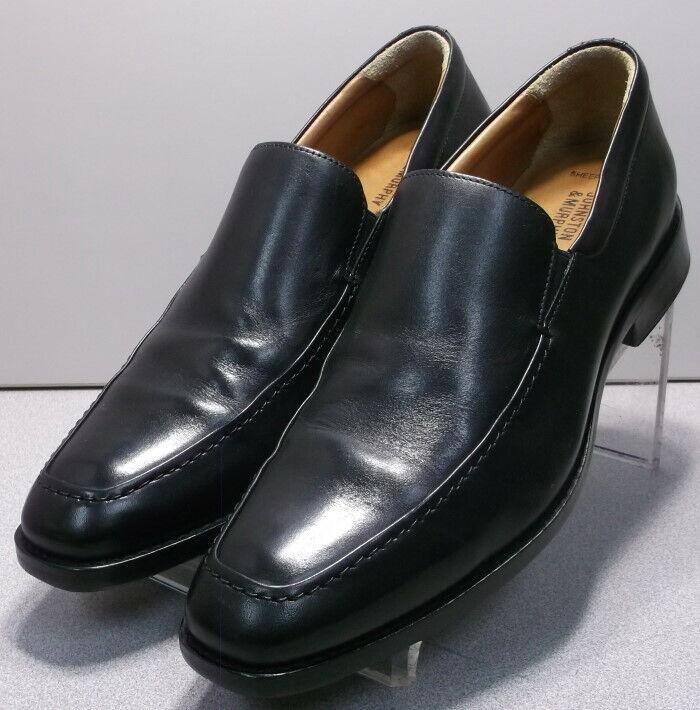 204455 WT50 Men's Shoes 10.5 M Black Leather Slip On Johnston Murphy Walk Test