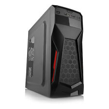 Lockstock gc375 ATX Tower Gaming PC Case con usb3.0 NERO-NO Alimentatore