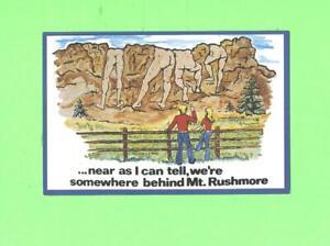 OO POSTCARD NUDE MEN BEHING MT RUSHMORE SEEN BY SOUTH