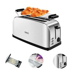 Toaster 4 Scheiben Edelstahl Mit Krümelschublad