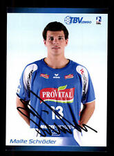 Malte Schröder Autogrammkarte TBV Lemgo 2008-09 Original Signiert+A 138458